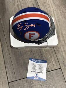 EMORY JONES Signed Autograph Florida Gators Mini Helmet Beckett BAS Coa