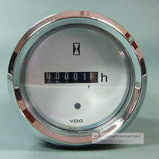 VDO horas de funcionamiento instrumento contador. bel Hour metros LED 12v + 24v anillo de cromo