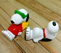 Vintage Snoopy Peanuts Schulz 1958, 1966, 1971 Porcelain Figurines Set of 2 UFS
