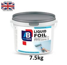 7.5kg AQUA BUILD Liquid Foil Waterproof Tanking Membrane Wet Shower Bath Room
