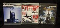 Batman Arkham Origins City Asylum Sony PlayStation 3 PS3 Game Lot Works Tested