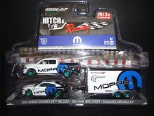 Greenlight Dodge Ram 1500 & Dodge Charger HELLCAT 2016 W Enclosed CAMION 1/64 CH