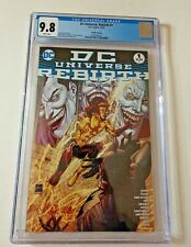 DC COMICS DC UNIVERSE #1 THREE JOKERS COVER CGC 9.8 WH PGS 10/16 FOURTH PRINTING