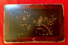 Antique Japanese, Laquered Wooden Box, Sold As Seen