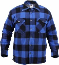 Rothco 3739 Extra Heavy Weight Sherpa Lined Flannel Shirts Large Blue Plaid
