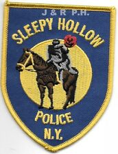 "Sleepy Hollow, NY  (3.25"" x 4.25"" size) shoulder police patch (fire)"