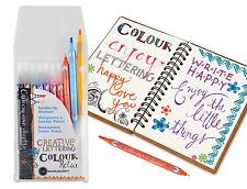Pack 10 Manuscript CalliCreative Duo Tip Coloured Italic Twin End Pens MM7001