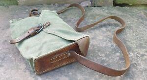 Schweizer Armee Tasche aus Leder / Segeltuch - Mehrzwecktasche - rar - 1944