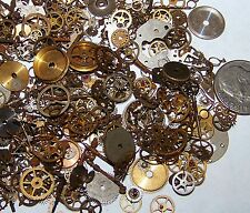 1/2 OZ FREE EU SHIP STEAMPUNK Old Watch Parts Pieces Supplies Pieces Gears Wheel