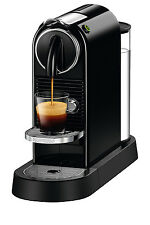 NEW Nespresso by Delonghi Citiz Solo capsule coffee machine Black EN167B