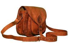 Real Genuine Brown Leather Vintage Messenger ladies Shoulder Hippie Tote Bag