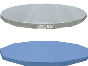 INTEX Deluxe COVER 10ft 12ft 15ft 18ft Diameter Easy Round Metal Frame Pool