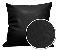 Pb301a Black Faux Leather Skin Soft PU Cushion Cover/Pillow Case*Custom Size*
