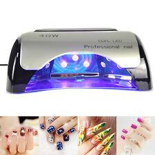 48W LED Light Lamp UV Nail Art Dryer Curing CCFL Gel Gelish Timer Acrylic Polish