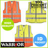 Pro Quality Zipped Executive High Visibility Vest Waistcoat ID Pocket Hi Vis Viz
