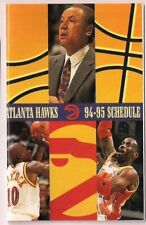 1994-95 1995 ATLANTA HAWKS BASKETBALL POCKET SCHEDULE (Lenny Wilkens)
