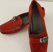 Circa Joan David Comfort 365 Red Suede Casual Flats Women Shoes Size 7M EUC