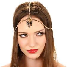 Kristin Perry Gold Crystal Chain Grecian Tassel Headpiece