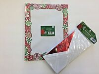 1 pkg. of 25 sheets xmas candy holiday stationery sheets and 25 envelopes
