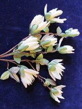 "Vintage Millinery Flower 1"" Bud Ivory Floral for Hat Wedding Headband Zcy"