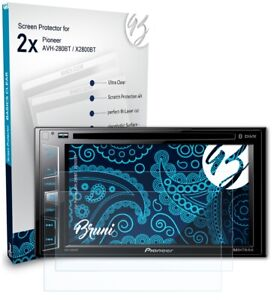 Bruni 2x Protective Film for Pioneer AVH-280BT / X2800BT Screen Protector