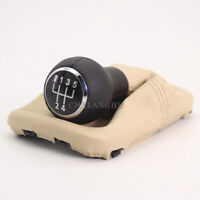 For VW Beetle 1998 - 2011 Leather 5 Speed Gear Shift Stick Knob With Beige Boot