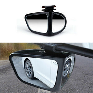 Left+Right Rear View Mirror Adjustable 360° Wide Angle Blind Spot Fit For Car