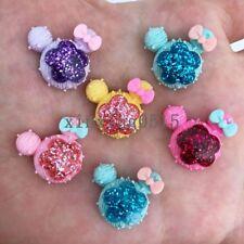 10pcs 20mm mix Resin Gold powder flower  mouse  Flatback stones child scrapbooks