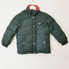 J Crew Crewcuts 2 in 1 Hooded Puffer Vest Green Jacket Size L