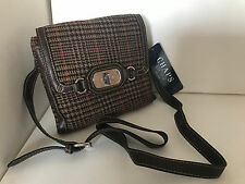 NEW! CHAPS RALPH LAUREN BLAIR BEDFORD PLAID CROSSBODY SLING BAG PURSE $59 SALE
