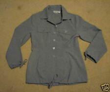 Women's 8 gray career jacket newport news blouse