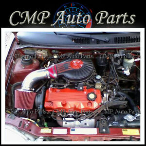 RED 1991-1997 CHEVY GEO METRO 1.0L 1.3L LSi XFi AIR INTAKE KIT INDUCTION SYSTEMS