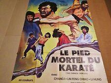 LE PIED MORTEL DU KARATE   ! rare affiche cinema karate kung-fu 1973