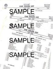 collector car charts ebay stores 1952 Dodge Truck Models 1949 1950 1951 1952 1954 1955 1956 1957 1963 mercury paint color code list