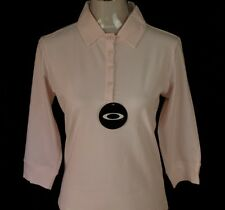 BNWT WOMEN'S AUTHENTIC OAKLEY STRETCH L/S POLO SHIRT XSMALL PINK