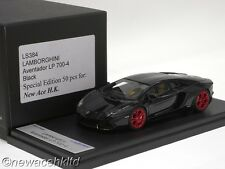 LAMBORGHINI AVENTADOR BLACK LP 700-4 LIM:50PCS LOOKSMART MODEL 1/43 #LS384