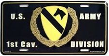 Aluminum Military License Plate Army 1rst Cavalry Division NEW The First Team