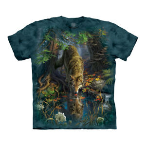 The Mountain Enchanted Wolf Pool Adult Unisex T-Shirt