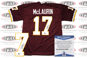 Terry McLaurin Signed Washington Custom Pro Style Jersey Beckett Witnessed