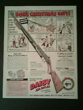 1959 Daisy Western BB Saddle King Air Rifle Christmas Boys 10 x 13 Toy AD