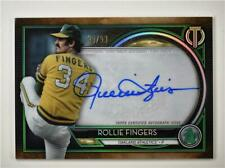 2020 Tribute Auto Green #TA-RF Rollie Fingers /99 - Oakland Athletics