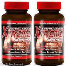 2X XTREME NITRIC OXIDE Extreme 2000 L-ARGININE Build Muscle 90 CAPS 2400 MG