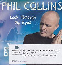 Phil Collins-Look Through My Eyes Promo cd single