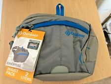 NEW Outdoor Products Gray Essential Nylon Outdoors Hiking Waist Pack Bag