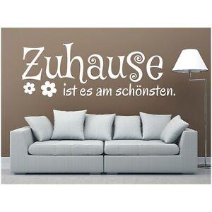 Spruch WANDTATTOO Zuhause ist am schönsten Wandsticker Sticker Wandaufkleber 2