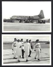India real photo postcard of Dr Rajendra Prasad INDIAN AIRFORCE aeroplane etc.
