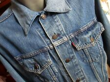 44 XL True Vtg ORIGINAL 80s LEVI'S 4 Pocket 70506 0217 Denim Jean Jacket USA
