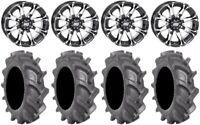 """STI HD3 14"""" Wheels Machined 30"""" BKT AT 171 Tires Kawasaki Teryx Mule"""