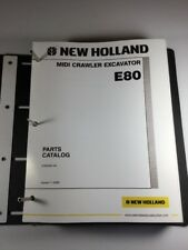 New Holland E80 Excavator Parts Catalog Manual