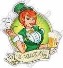"Irish Girl St. Patrick's Day Beer Gift Car Bumper Vinyl Sticker Decal 4""X5"""